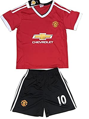 2015/2016 Manchester United Home Rooney #10 Kids Soccer Youth Football Jersey