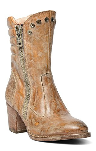Bed Stu New Distressed Leather Boots Onrush Tan Rustic White, 8.5 by Bed|Stu