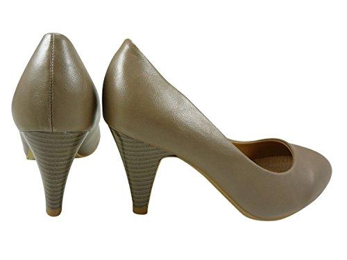 Damen Pumps Schuhe, Pumps, Kunstleder Taupe