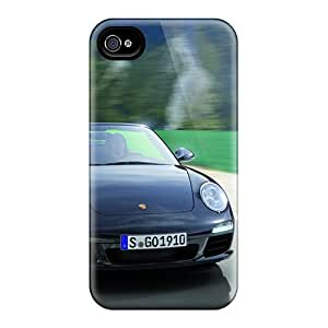 4/4s Scratch-proof Protection Cases Covers For Iphone/ Hot Porsche 911 Black Edition Phone Cases
