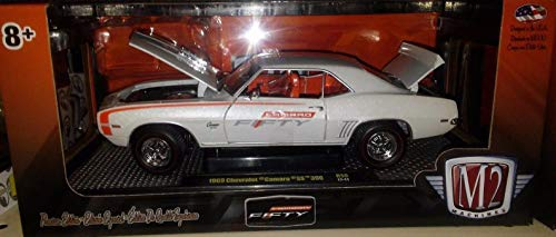 BHCAT 1969 Chevy Camaro Z28 Die-cast Car 1:24 M2 Machines 8inch White 50th ()