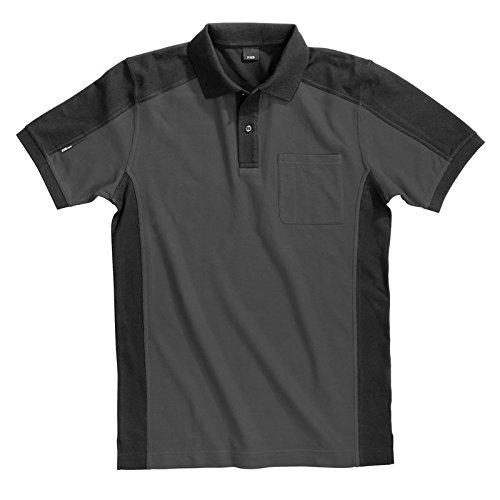 FHB Polo-Shirt Konrad, größe M, anthrazit / schwarz / grau, 91490-1220-M