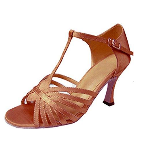 Ballroom chaussures Couleur Cadeau 35 7CM YFF Latin danse Femme Dance Chaussures de abricot de danse X7w8xTw