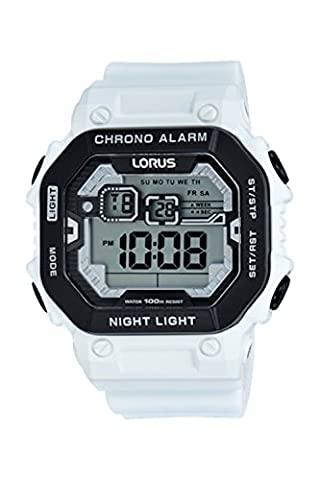 Lorus Digital Chronogrph by Seiko R2397KX-9 White Silicone Watch (Digital Watch Men Seiko)