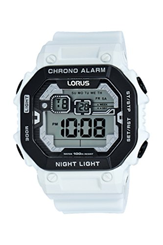 Lorus Digital Chronogrph by Seiko R2397KX-9 White Silicone Watch (Seiko Digital Watch compare prices)