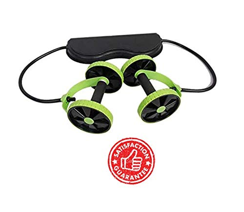 AB Roller for Ab Workouts -AB Wheel Roller -Fitness Abdominal Machine- Exercise Gym Equipment -Core Workout Multi-Function ABS Fitness Equipment for Home Trainer- Green Core Ab Roller Double Wheels