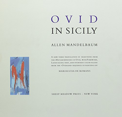 Ovid in Sicily: A New Verse Translation of Selections from the
