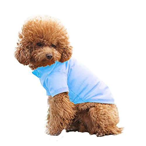Overtime Tee - PanDaDa Pet Doggy Apparel Classic Small Dog Polo T-Shirt Puppy Tee Shirt Clothes