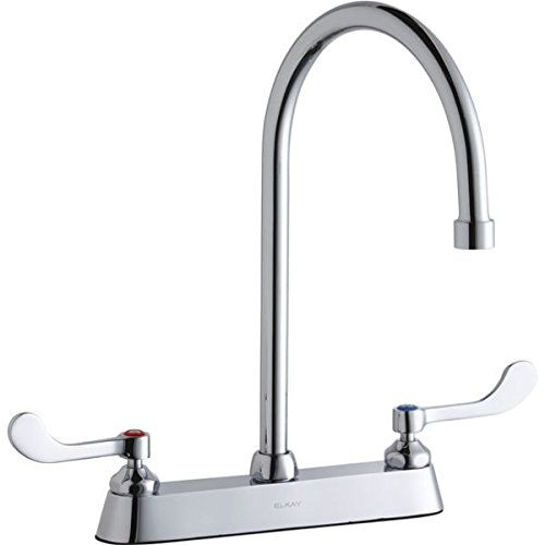 Elkay LK810GN08T4 Chrome Exposed Deck Faucet with 8