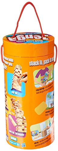 Jenga Game Wooden Blocks Stacking Tumbling Tower Kids Game Ages 6 and Up (Amazon Exclusive)