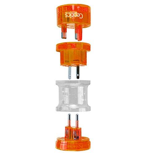 Ceptics UP-3K-ORANGE Small Size Worldwide International Trav