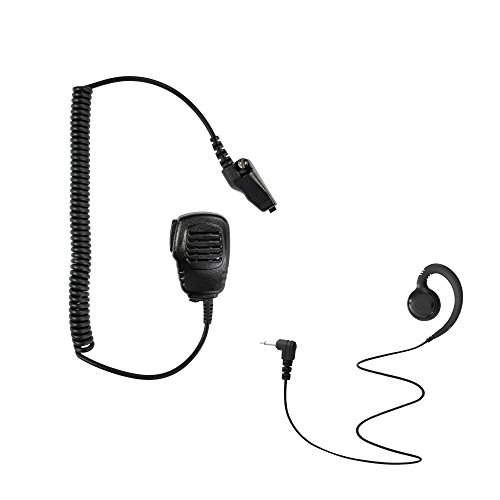 - Maxtop APM100ARP3000-K3 Light Duty Shoulder Speaker Microphone + Swivel Listen Only Earpiece for Kenwood