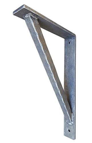 "Shoreline 11""X14"" Hammered Heavy Duty Wrought Iron Support Angle Bracket for Interior/Exterior Use-Old Copper by Shoreline Ornamental Iron"