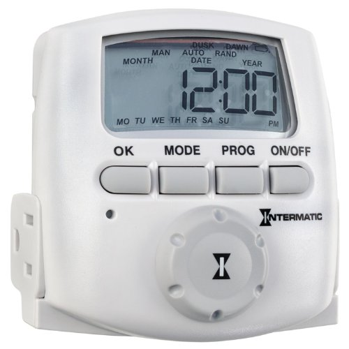Intermatic DT620 Heavy Duty Indoor Digital Plug-In Timer, White Intermatic Indoor Digital Wall Switch Timer