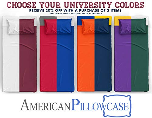 American Pillowcase College Dorm Twin XL Bed Flat Mattress Sheet 100% Microfiber Ultra Soft Hypoallergenic Wrinkle-Free, Stain, and Fade Resistant - Red 200 by American Pillowcase (Image #3)