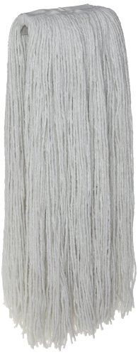 Zephyr 10532 Rayon 4-Ply 32oz Cut End Wet Mop Head with 1-1/4'' Regular Headband (Pack of 12) by Zephyr