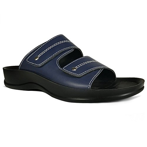 with for Strap Comfort Flip Orthotic Sandals Comfortable Walk AEROTHOTIC Support Navy Arch and Quinn Flops Dual pa8xw
