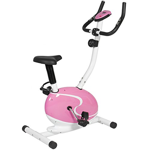 Best Choice Products Pink Magnetic Upright Exercise Bike Fitness Cycling Bicycle Cardio Workout Best Choice Products