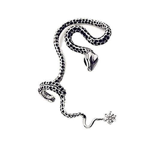Cherryzz Unisex Special Fashion Snake Ear Cuff Ear Wrap Cool Eardrop Ear Clip (silver-right)