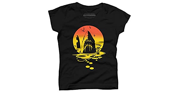 16507b53dc78bd Amazon.com  Design By Humans Hang Ten Girl s Youth Graphic T Shirt  Clothing