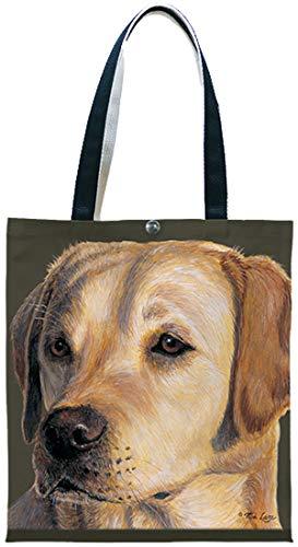 Fiddlers Elbow Yellow Labrador Retriever Lab Cotton Canvas Tote Shopping Bag