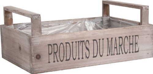 Fabulous Fruit Basket (Wooden Crate French Fruit Market Trug Vegetable Vintage Chic Box Storage Holder)