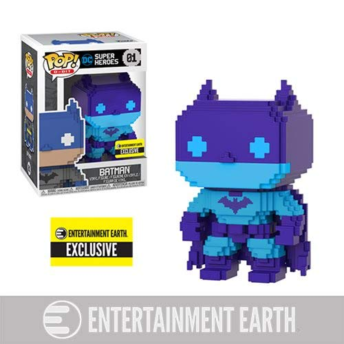 Deco Pop Art - Funko Pop! DC Comics Batman Video Game Deco 8-Bit Vinyl Figure - Entertainment Earth Exclusive SDCC 2018