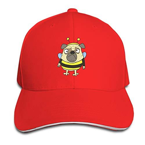 Baseball Cap Bee Pug Dad Hat Peaked Flat Trucker Hats Adjustable for Men Women