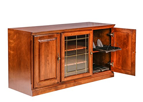 (Forest Designs Traditional Alder TV Stand with Media Storage: 67W x 30H x 21D 67w Whitewash Oak)