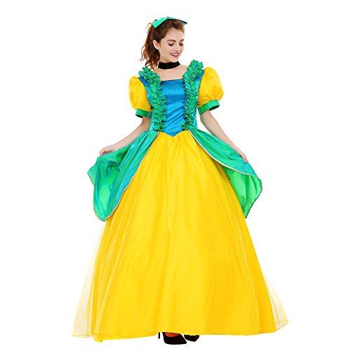 [Angelaicos Womens Vibrant Color Layered Elegant Costume Dress Petticoat (S, Green Yellow)] (Best Womens Comic Con Costumes)