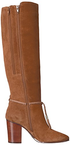 High Knee Suede Foot Dark Aerosoles Square Boot Women's Tan ZtWqwWvTIx