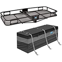 Pro Series 63153 Rambler Cargo Carrier Basket for 2 Inch Trailer Mounted HitchPro Series Amigo Reese Explore Rainproof Travel Cargo Carrier Tray Storage Bag