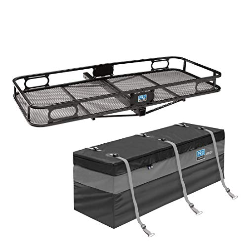 (Pro Series 63153 Rambler Cargo Carrier Basket for 2 Inch Trailer Mounted HitchPro Series Amigo Reese Explore Rainproof Travel Cargo Carrier Tray Storage Bag)