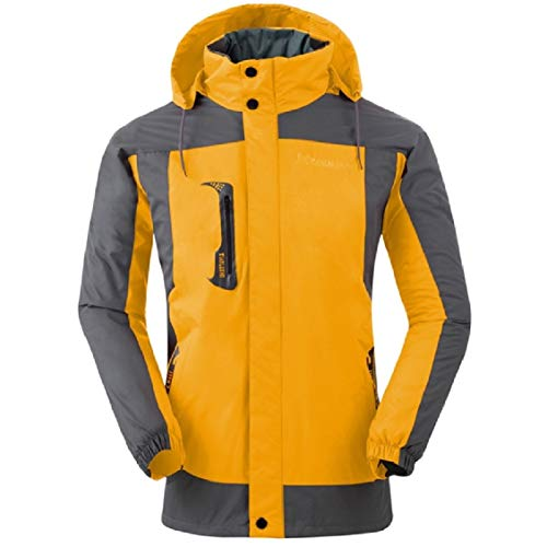 Coat Energy Zipper Jacket Yellow Waterproof Warm Mens Outwear Mountain Velvet Thicken 8wR8Zqr