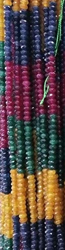 Pukido 34mm Natural Stone Emeralds Rubies Sapphires Citrines Beaded for Jewelry Making Stone DIY Bracelet Necklace Craft Material Gift - (Color: White)