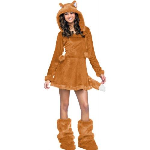 Fun World Sweet Fox Teen Costume, Tan,