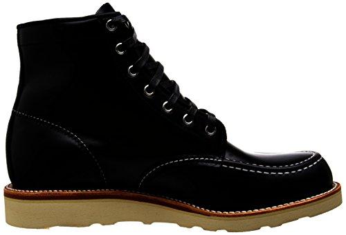 Original Chippewa Collection Hommes Six Pouces Moc-toe Boot Noir Tourbillon