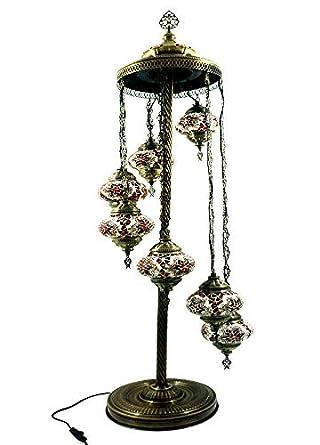 Mosaiklampe Orientalische Marokko Handgefertigte Glas Lampe Stehlampe Bodenlampe