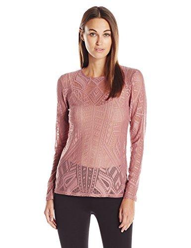 BCBGMAXAZRIA Womens Agda Knit Sportswear Top