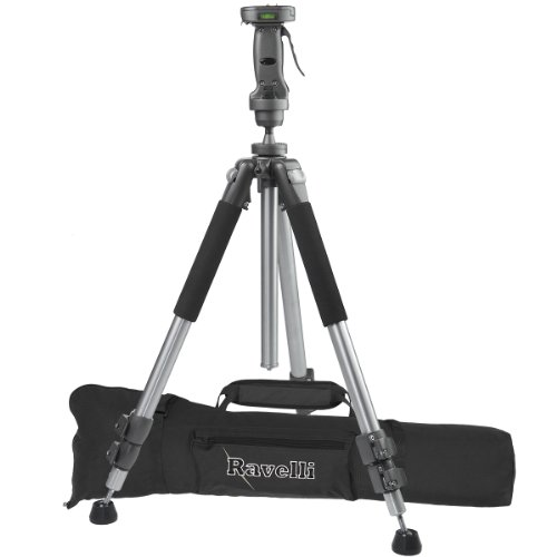 """Ravelli APGL4 New Professional 70"""" Tripod with Adjustable Pistol Grip Head and Heavy Duty Carry Bag"""