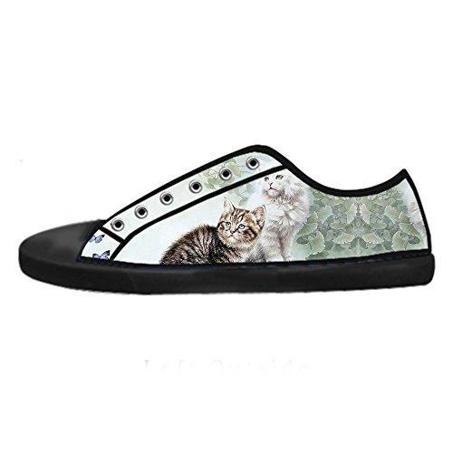 Custom Scarpe Men's Pittura Alto I Lacci Canvas Shoes Ginnastica Tela Da Le Sopra Gatti Delle Di In pxr4p