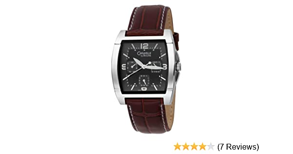Amazon.com: Caravelle by Bulova Mens 43C20 Bracelet Black Dial Watch: Watches