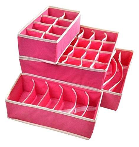 Textil organizadores cajón divisores, 24 celdas plegable ropa interior cajas de almacenamiento para almacenar calcetines,...