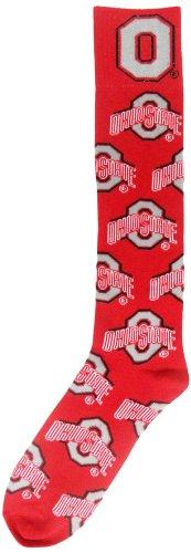 NCAA Ohio State Buckeyes Athletic Block Red Dress Socks