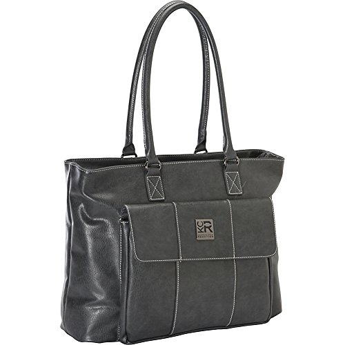 Kenneth Cole Reaction Women's Casual Fling Ladies Tote Laptop, Charcoal