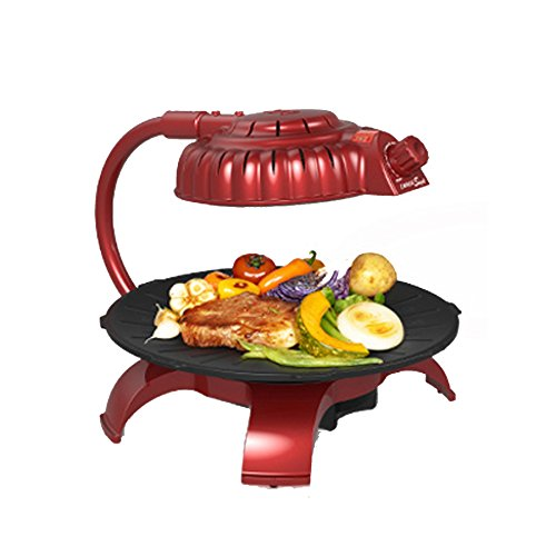 ZAIGLE Simple Red ZG-B373R Electric Infrared Grill 220V by ZAIGLE