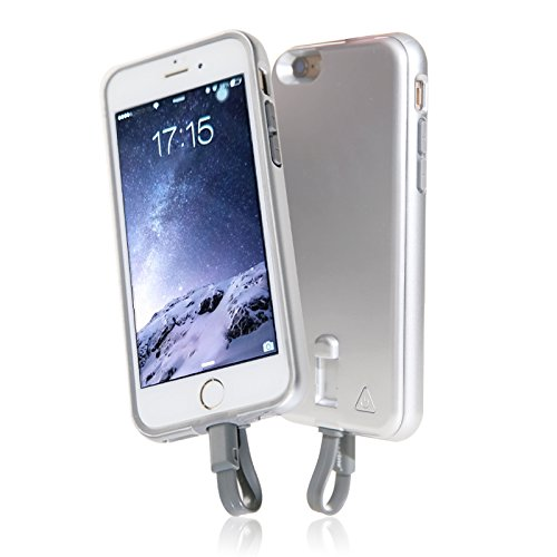 Imazing (MFI) iPhone 6 / iPhone 6S Extended Rechargeable Detachable Battery Bumper Case 2800mah (Silver)