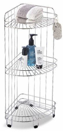Organize It All 1755 3 Tier Bath Corner Shower Caddy
