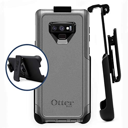 Belt Clip Holster Compatible with Otterbox Commuter Case - Samsung Galaxy Note 8 | Easy Fit | Slim Design | Built in Kickstand [case not ()