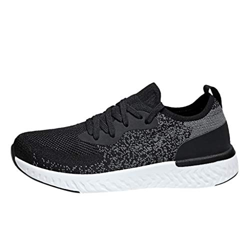 OrchidAmor Men Womens Fashion Flats Breathable Sport Shoe Lightweight Walk Running Sneakers 2019 Summer Swag Shoes Black